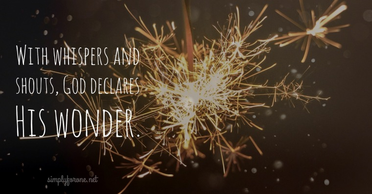 God Declares His Wonder {www.simplyforone.net} http://wp.me/p2v8DX-pL