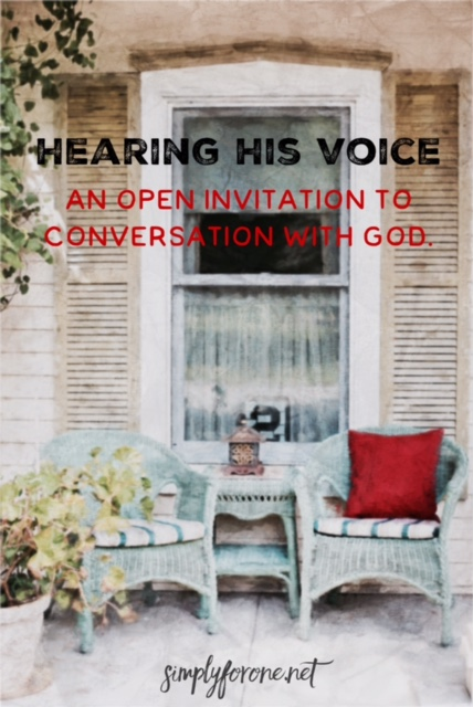 When You Want to Hear God's Voice. (www.simplyforone.net) http://wp.me/p2v8DX-AR