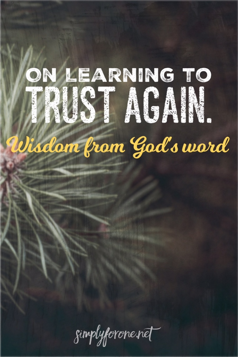 On Learning to Trust Again {www.simplyforone.net} http://wp.me/p2v8DX-Ay