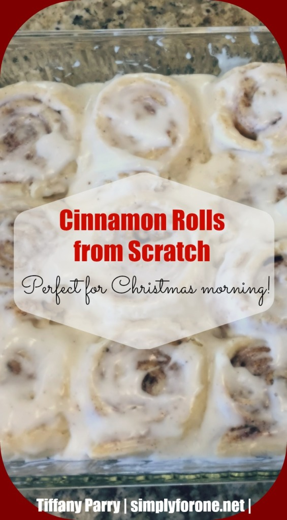 A homemade passed-down family tradition sure to sweeten your Christmas morning! 100% not calorie free. {www.simplyforone.net}