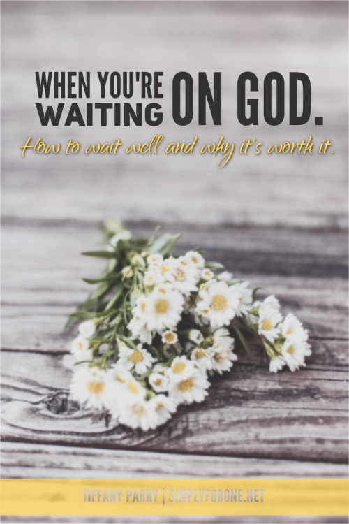 We've all experienced some season and degree of wait--and chances are we didn't like it. Waiting IS hard, but we can learn to wait well and be better for it. Read more at simplyforone.net {http://wp.me/p2v8DX-LT}