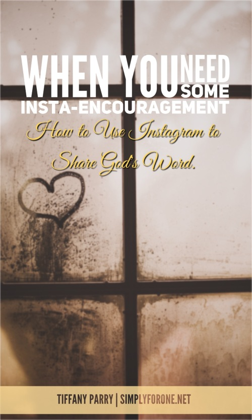 Whether giving or receiving encouragement, Instagram is a great asset to add to the bloggers toolkit. http://wp.me/p2v8DX-Mg {www.simplyforone.net} | Encouragment | Faith | Blogging Basics | Inspiration | Instagram |