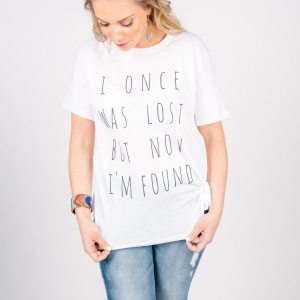 "Girl Set Free ""I Once Was Lost"" Tee {www.girlsetfree.org}"
